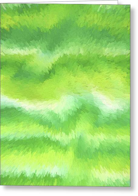 Abstract Style Greeting Cards - Abstract Lime Greeting Card by Sharon Norman