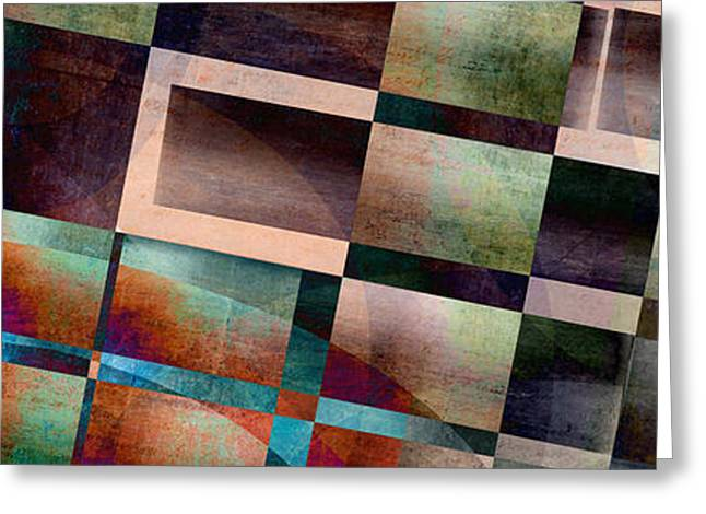 Layers Greeting Cards - Abstract Lines and Shapes Greeting Card by Edward Fielding