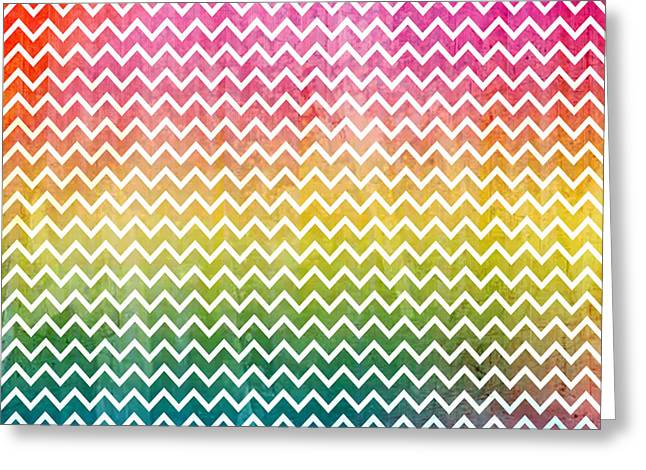 Sand Pattern Drawings Greeting Cards - Abstract Lines Rainbow Pride Greeting Card by Ace Of Spades