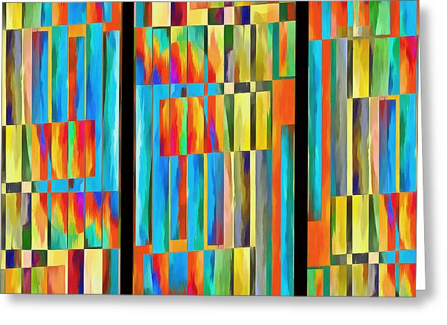 Pop Photographs Greeting Cards - Abstract Lines Trio Greeting Card by Edward Fielding