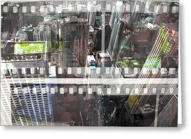 Urban Jungle Greeting Cards - Abstract Movie Greeting Card by David Studwell
