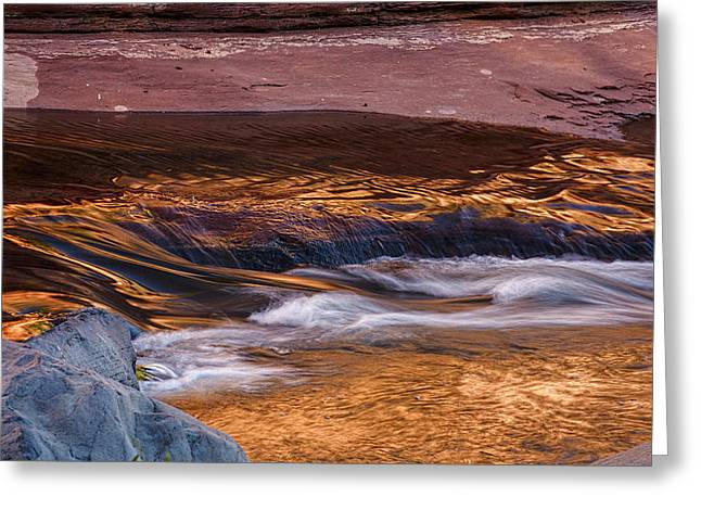 Abstract Oak Creek Canyon Greeting Card by Dave Dilli
