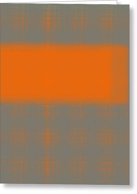 Brushes Greeting Cards - Abstract Orange 3 Greeting Card by Naxart Studio