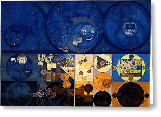 Abstract Painting - Apache Greeting Card by Vitaliy Gladkiy