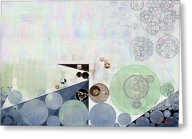 Abstract Painting - Athens Grey Greeting Card by Vitaliy Gladkiy
