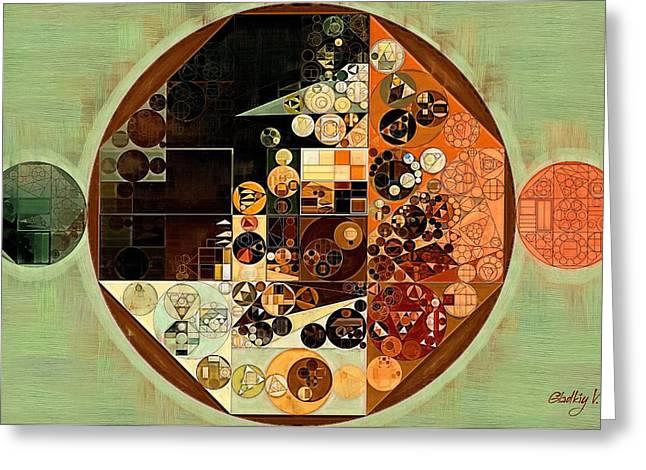 Abstract Painting - Barley Corn Greeting Card by Vitaliy Gladkiy