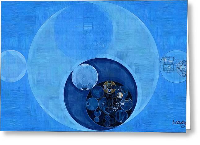 Abstract Painting - Bleu De France Greeting Card by Vitaliy Gladkiy