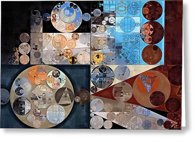 Abstract Painting - Casper Greeting Card by Vitaliy Gladkiy