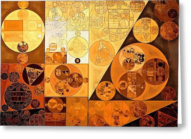 Abstract Painting - Chardonnay Greeting Card by Vitaliy Gladkiy