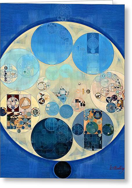 Abstract Painting - Curious Blue Greeting Card by Vitaliy Gladkiy