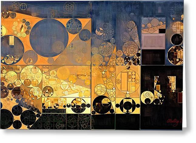 Abstract Painting - Davy Grey Greeting Card by Vitaliy Gladkiy
