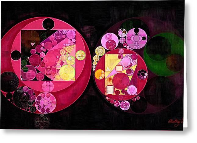 Abstract Painting - Deep Carmine Greeting Card by Vitaliy Gladkiy