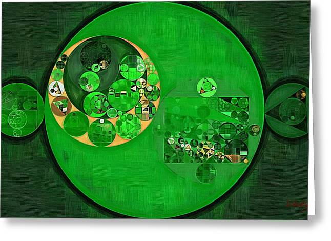 Abstract Painting - Deep Fir Greeting Card by Vitaliy Gladkiy