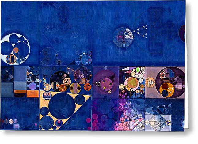 Del Rio Greeting Cards - Abstract painting - Egyptian blue Greeting Card by Vitaliy Gladkiy
