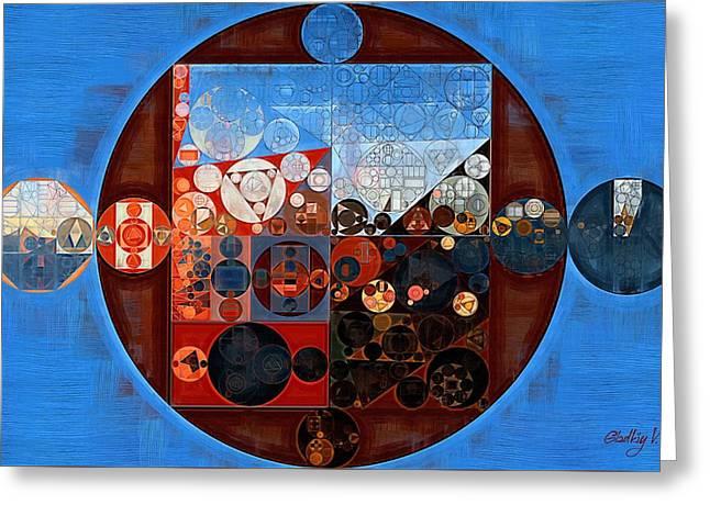 Abstract Painting - Ferra Greeting Card by Vitaliy Gladkiy
