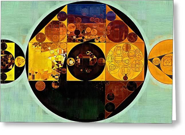 Abstract Painting - Gamboge Greeting Card by Vitaliy Gladkiy