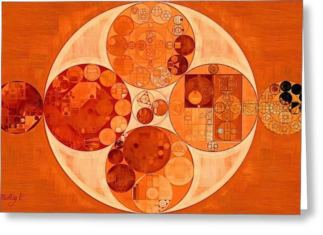 Mahogany Greeting Cards - Abstract painting - Mahogany Greeting Card by Vitaliy Gladkiy