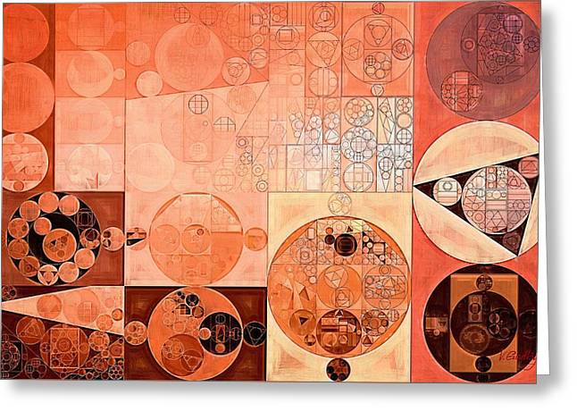 Abstract Painting - Mandys Pink Greeting Card by Vitaliy Gladkiy