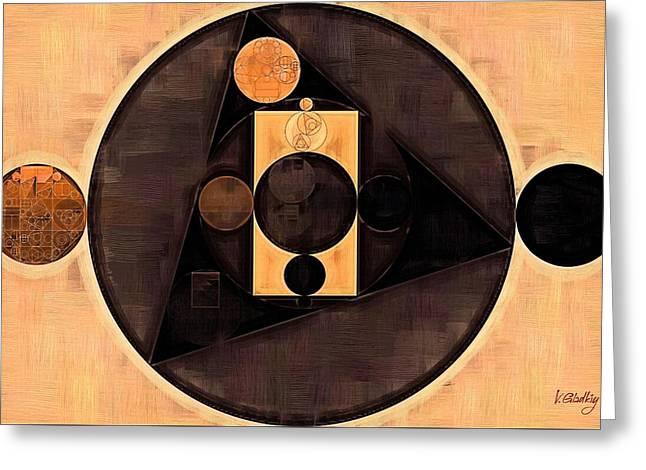 Abstract Painting - Morocco Brown Greeting Card by Vitaliy Gladkiy