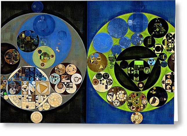 Abstract Painting - Olive Green Greeting Card by Vitaliy Gladkiy