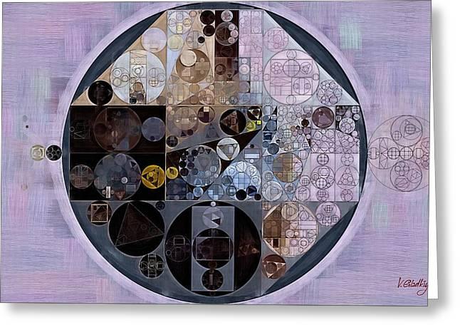 Abstract Painting - Pastel Purple Greeting Card by Vitaliy Gladkiy