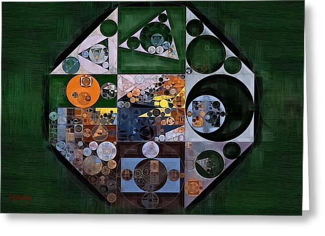 Abstract Painting - Pine Cone Greeting Card by Vitaliy Gladkiy