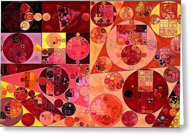 Abstract Painting - Salmon Greeting Card by Vitaliy Gladkiy
