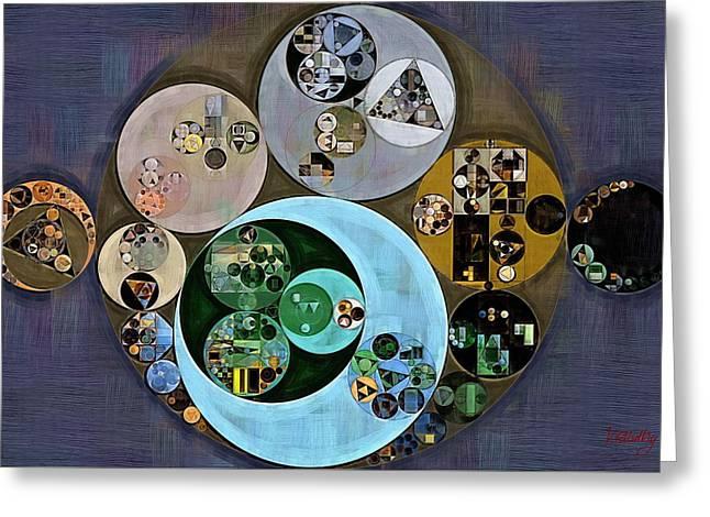 Abstract Painting - Tuna Greeting Card by Vitaliy Gladkiy