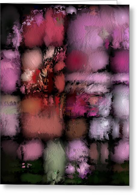 Ebsq Greeting Cards - Abstract Puffs Greeting Card by Dee Flouton