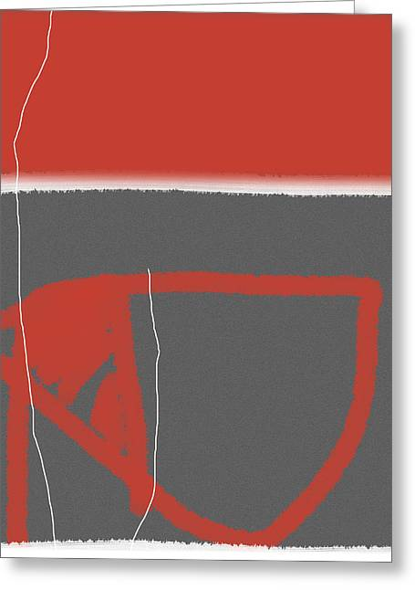 Tasteful Greeting Cards - Abstract Red Greeting Card by Naxart Studio