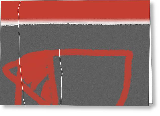 Abstract Red Greeting Card by Naxart Studio