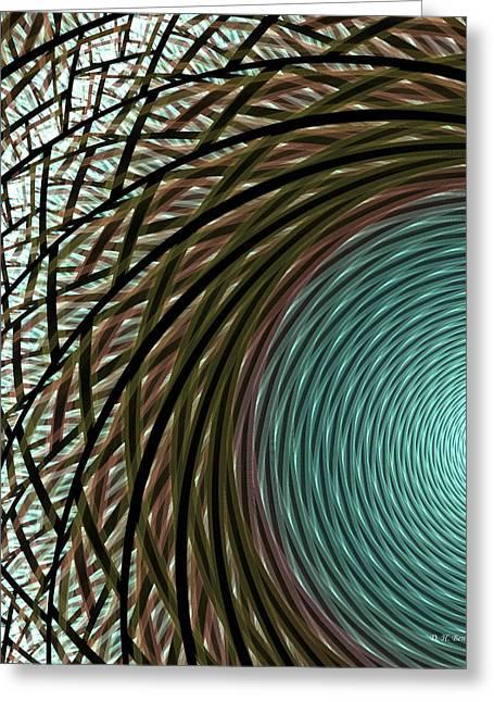 Apophysis Greeting Cards - Abstract Ring Greeting Card by Deborah Benoit