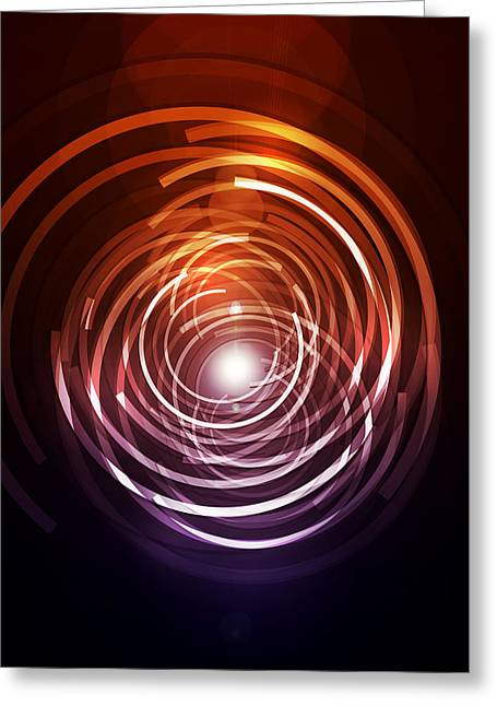 Beam Greeting Cards - Abstract Rings Greeting Card by Michael Tompsett