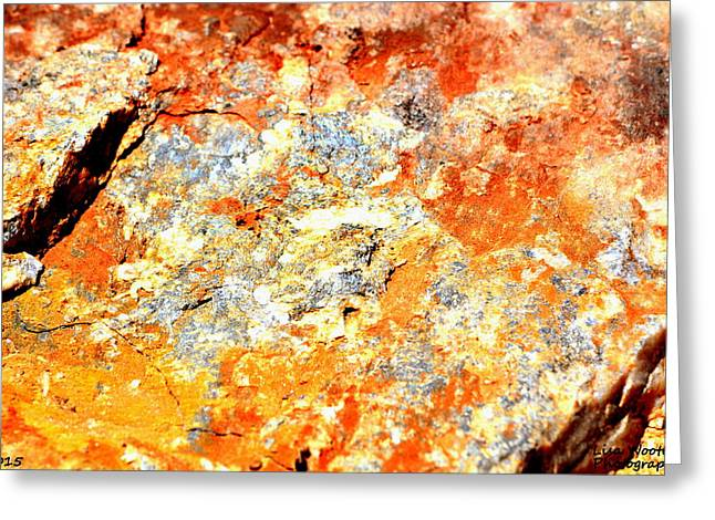 White Photographs Greeting Cards - Abstract Rock Greeting Card by Lisa Wooten