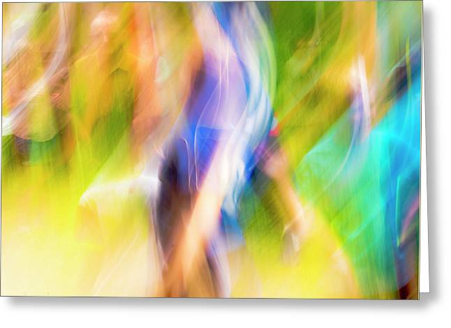 Abstract Running Greeting Card by Steven Ralser