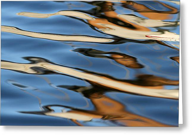 Fotografie Greeting Cards - Abstract Sailboat Reflection Greeting Card by Juergen Roth