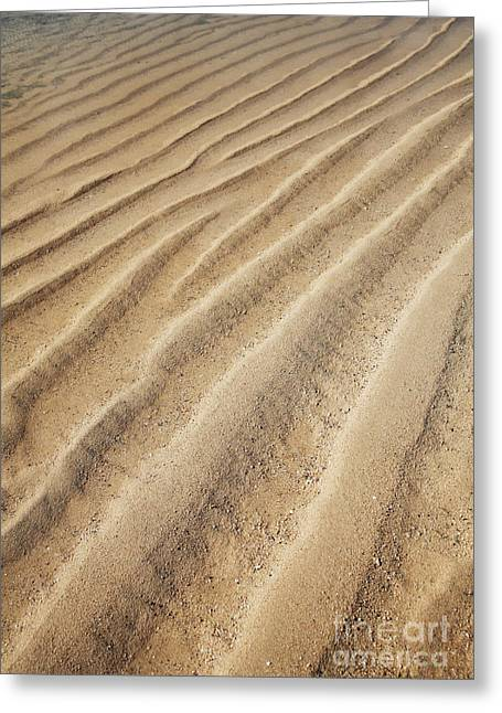 Lowtide Greeting Cards - Abstract Sand Patterns Greeting Card by Brandon Tabiolo - Printscapes