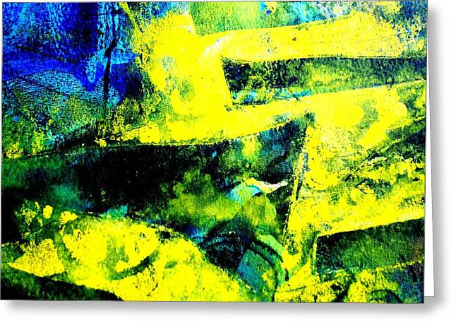 Print Card Greeting Cards - Abstract Scape Greeting Card by John  Nolan