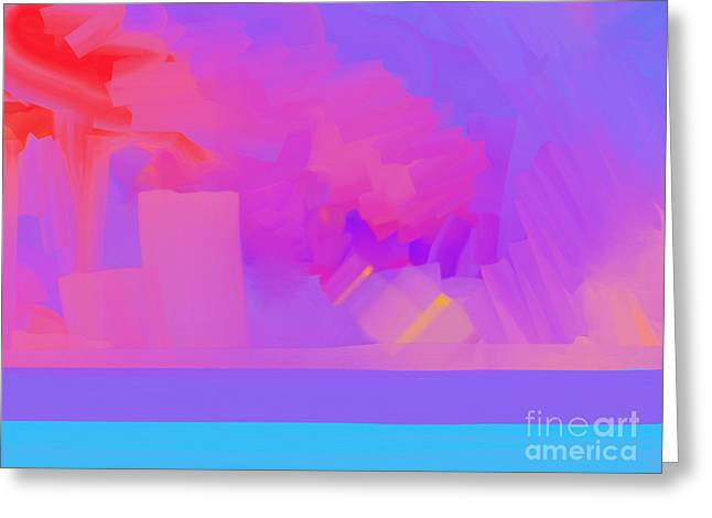 Abstract Seascape #1 Greeting Card by Pixel Chimp