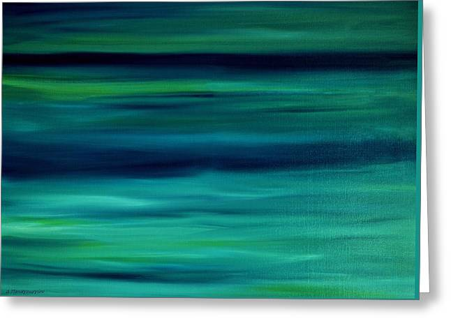 Abstract Waves Greeting Cards - Abstract Seascape 6 Greeting Card by Dimitra Papageorgiou