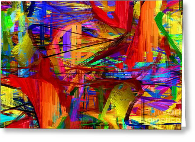 Tablets Greeting Cards - Abstract Series 9049 Greeting Card by Rafael Salazar
