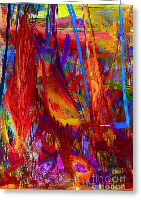 Tablets Greeting Cards - Abstract Series 9056 Greeting Card by Rafael Salazar