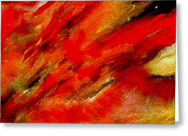 Greeting Cards - Abstract-simple Red 3 Greeting Card by Sherri  Of Palm Springs