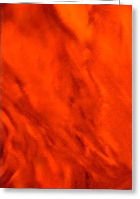 Greeting Cards - Abstract-simply Red Greeting Card by Sherri  Of Palm Springs