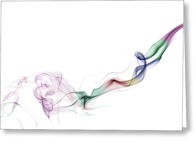 Mystic Art Greeting Cards - Abstract smoke Greeting Card by Setsiri Silapasuwanchai