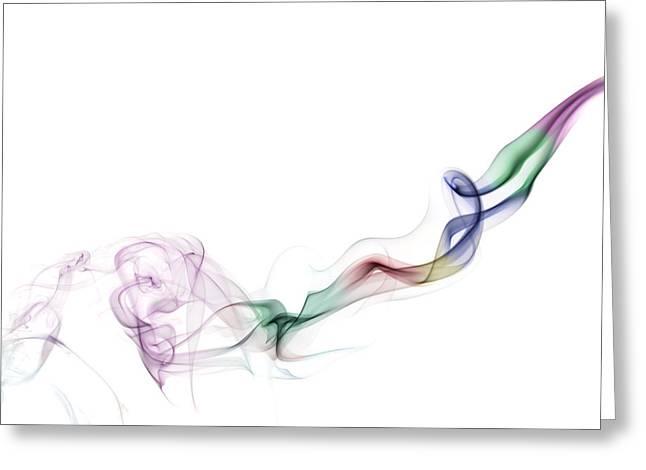 Abstract smoke Greeting Card by Setsiri Silapasuwanchai