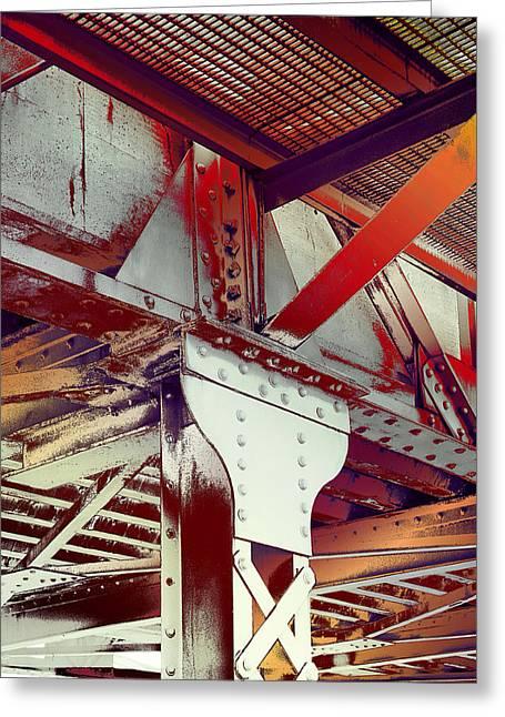 Grunge Steel Beam Greeting Card by Robert G Kernodle