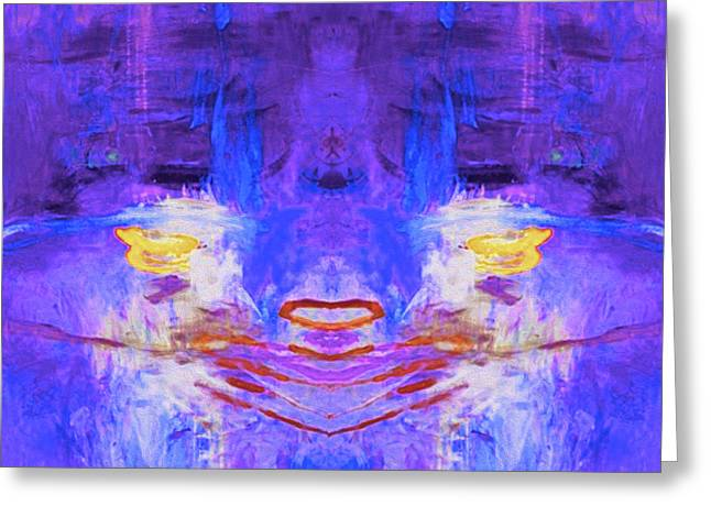 Abstract Storm By Nixo Greeting Card by Nicholas Nixo