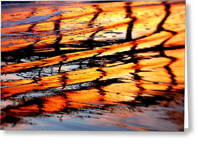Sunset Abstract Greeting Cards - Abstract Sunset Greeting Card by Bill Keiran