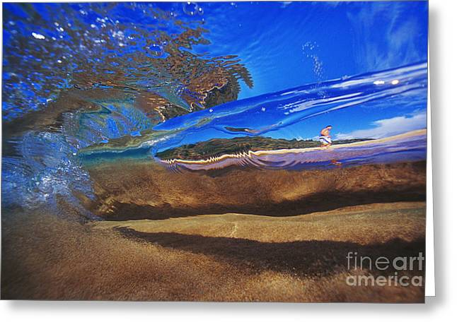 Vince Greeting Cards - Abstract Surfer Greeting Card by Vince Cavataio - Printscapes